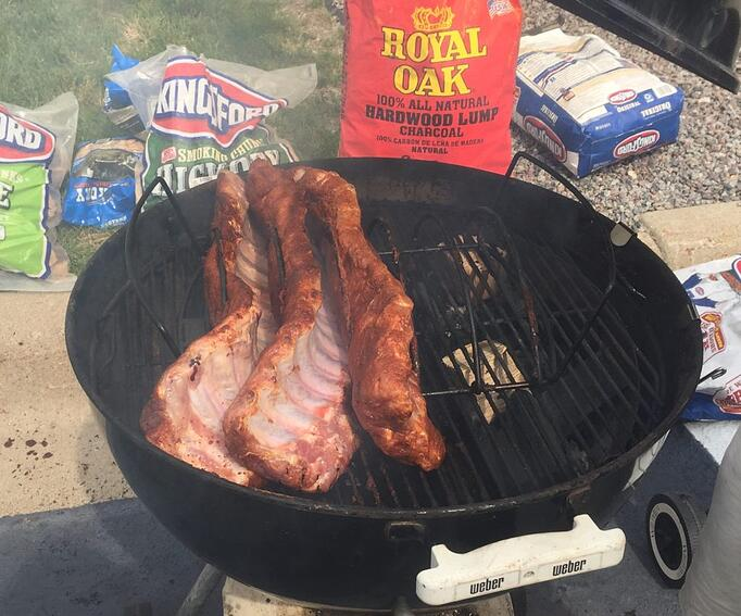 Ribs hot on the grill.jpg